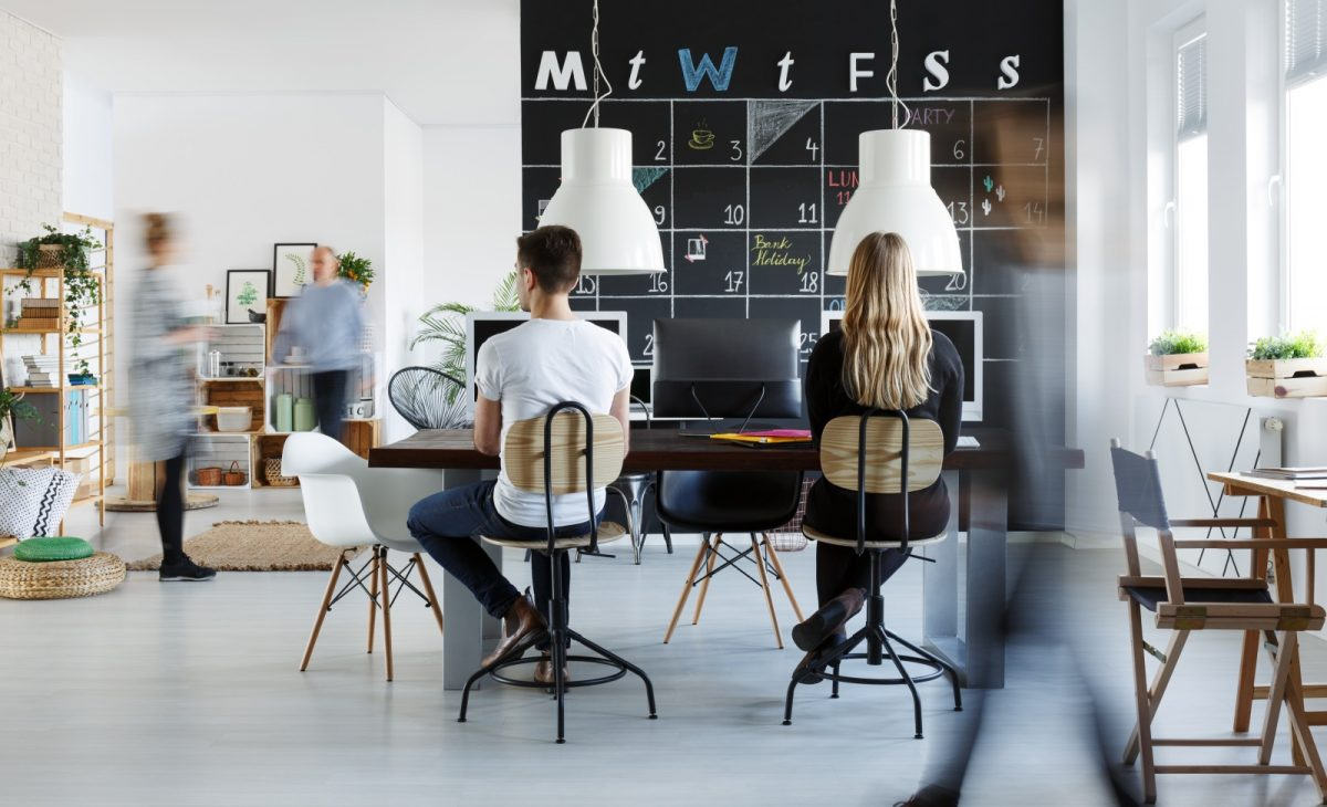 Working Remotely - Virtual Team - Shared Workspace - Coworking Space